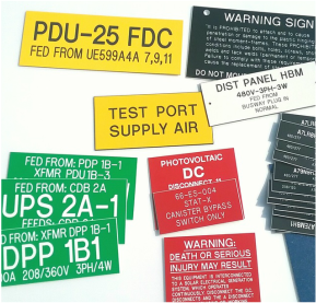 phenolic electrical labels